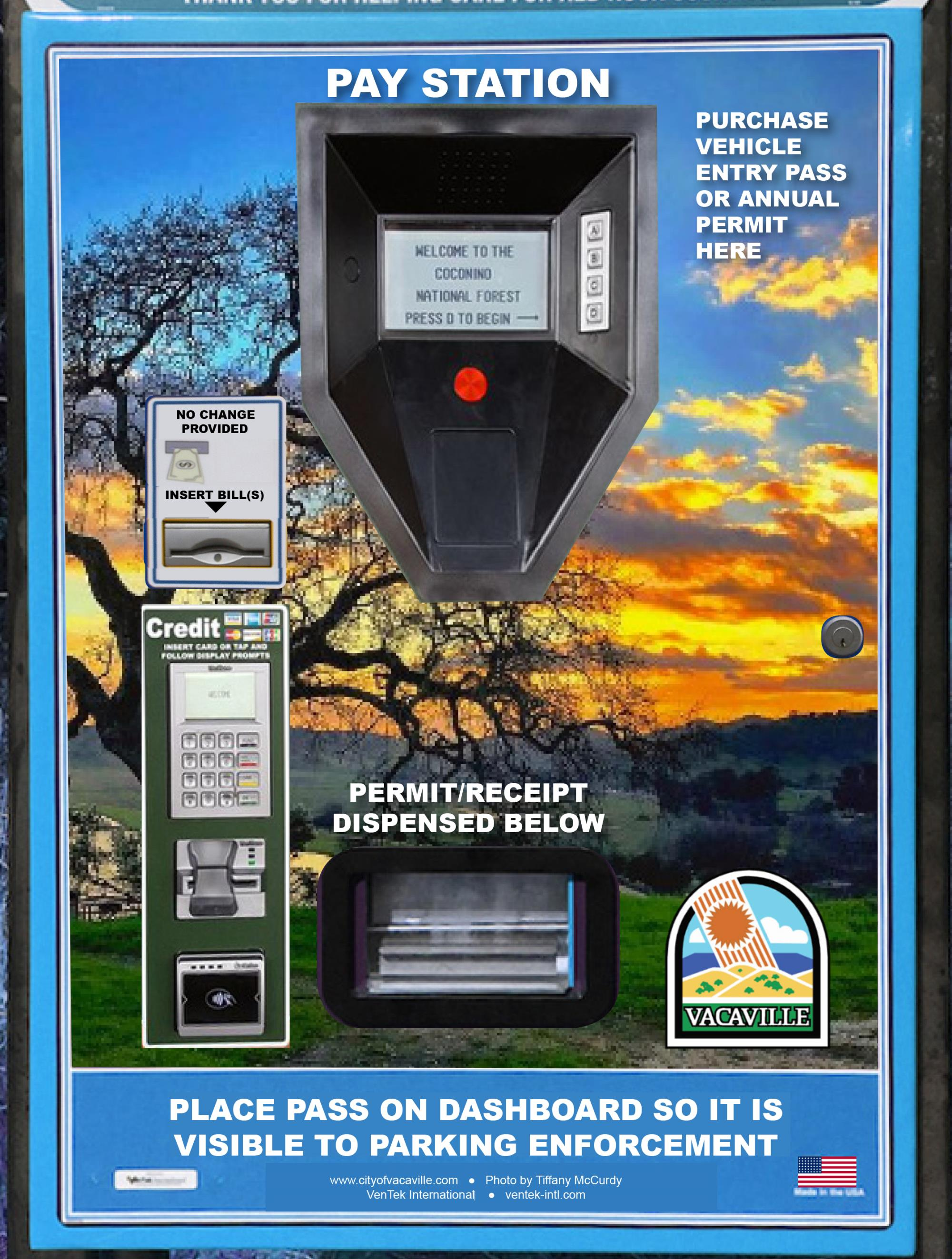 Mock Up Of A Pay Station Ot Be Used At Lagoon Valley Park