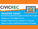 Small picture highlighting the new online registration service, CivicRec