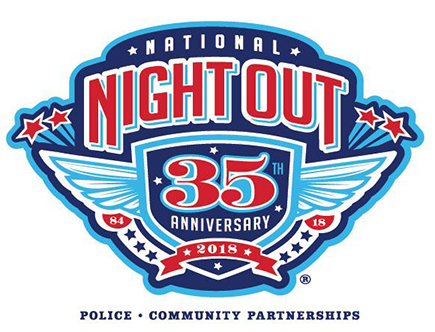 Logo for the 2018 National Night Out event