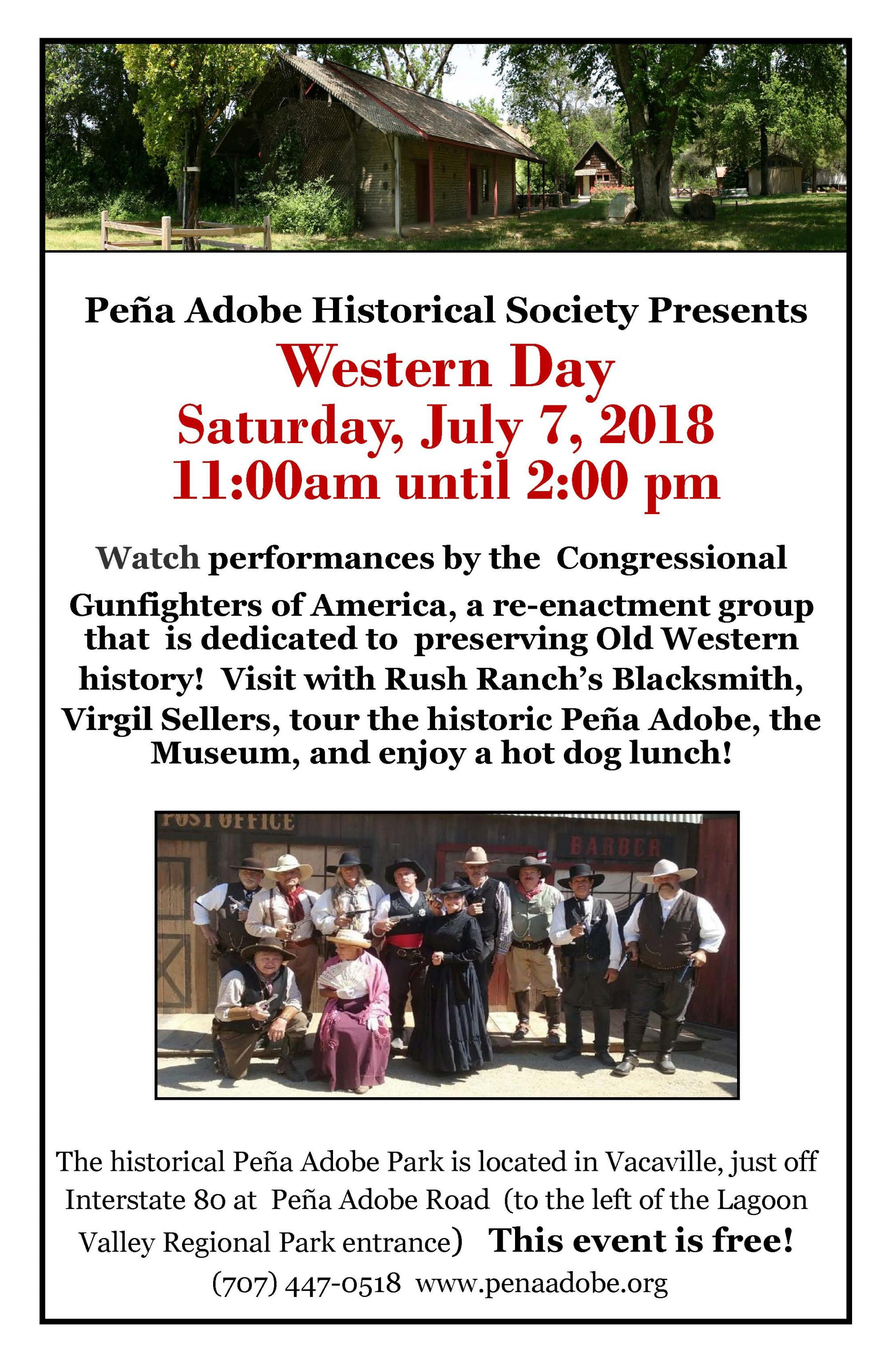 Western Day at Peña Adobe | Event List View | Vacaville, CA