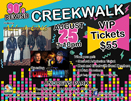 small poster for 90s rewind at the creekwalk