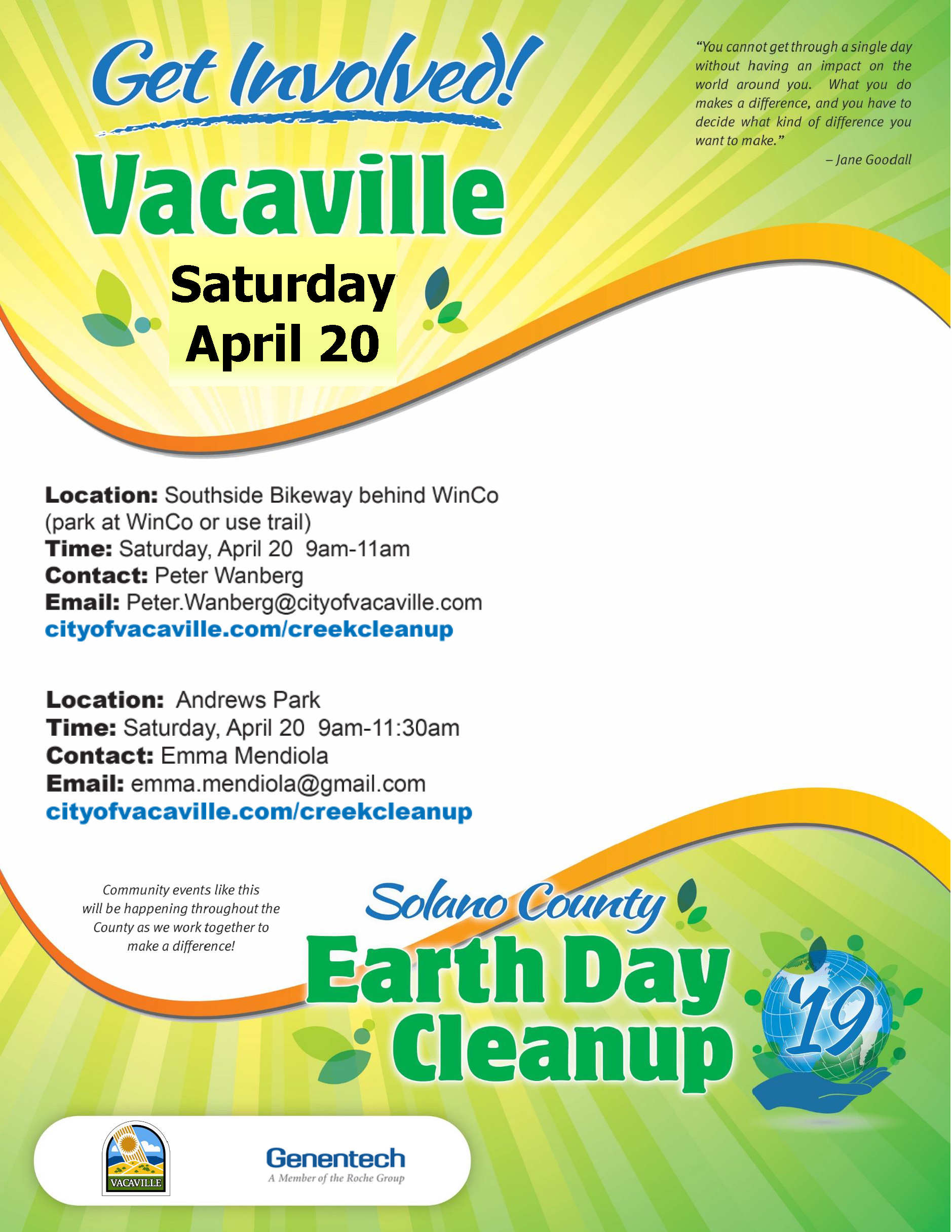 2019 Earth Day Flyer (Vacaville)  Final