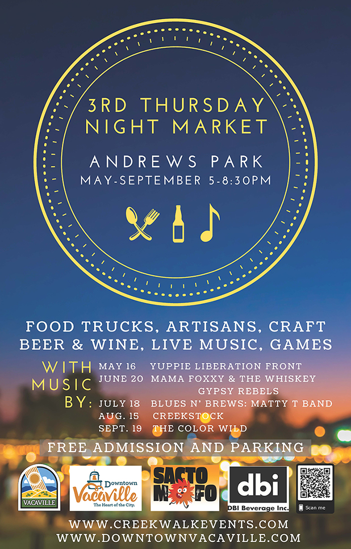 3rd Thursday Night Market poster