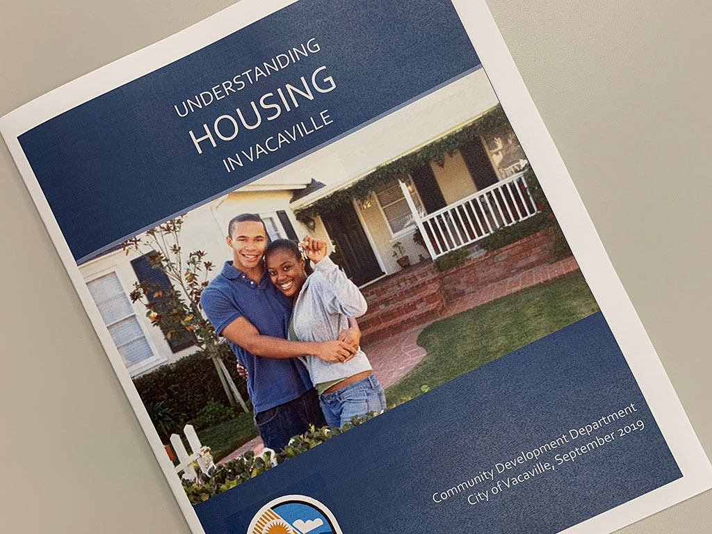 Image of brochure, Understanding Housing in Vacaville