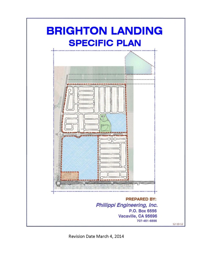 Cover of the Final version of the Brighton Landing Specific Plan