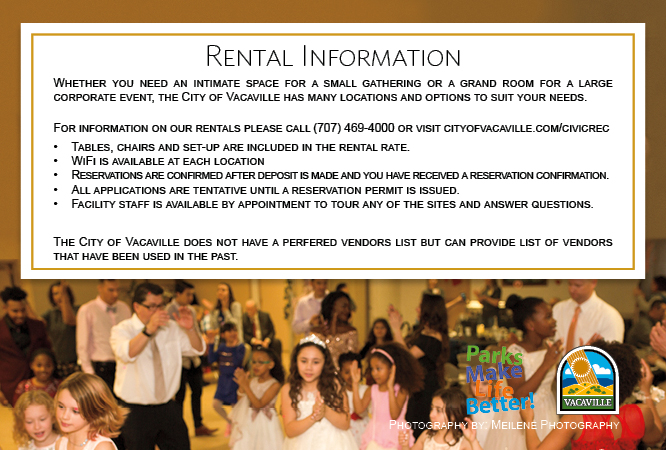 Party at the McBride Center and Rental Information