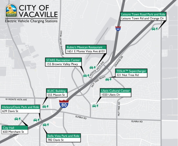 Vacaville Outlets Map >> Ev Charging Stations Vacaville Ca