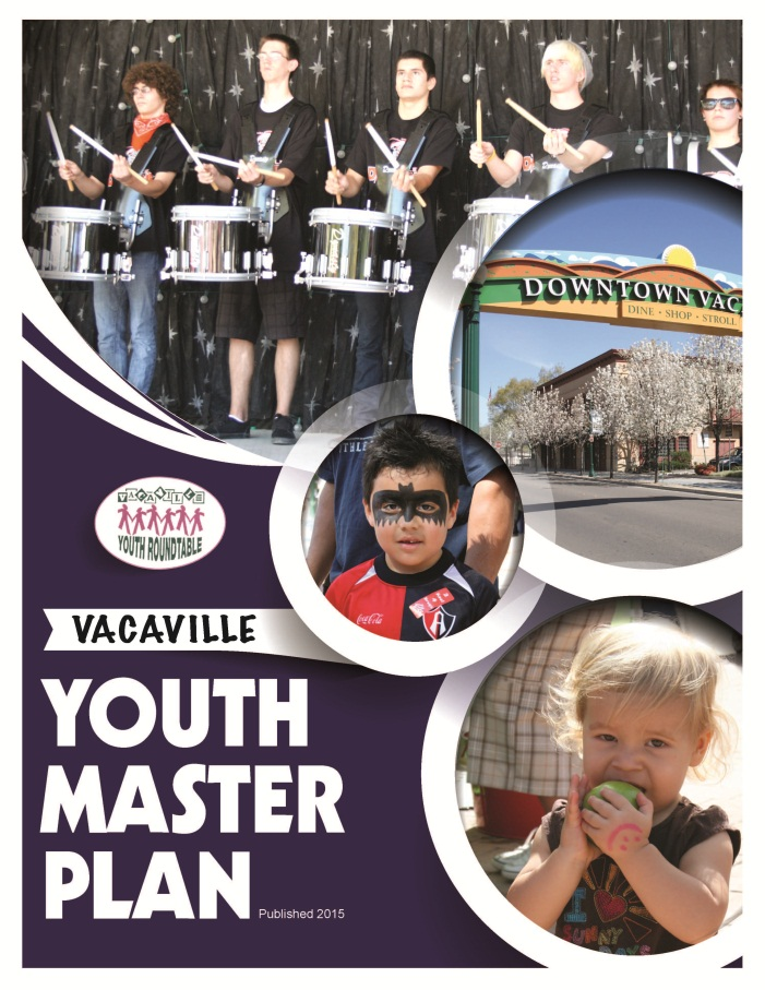 Cover of the Vacaville Youth Master Plan
