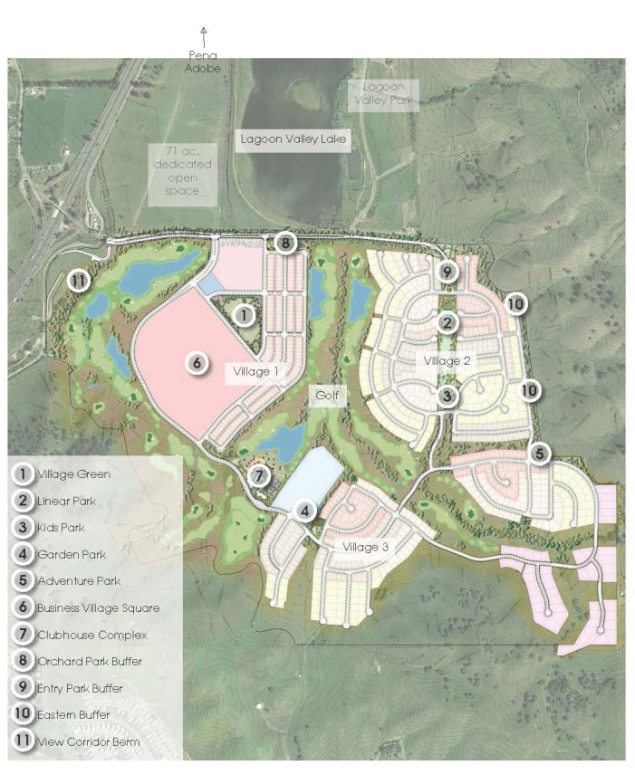 Map showing area of Lower Lagoon Valley to be developed