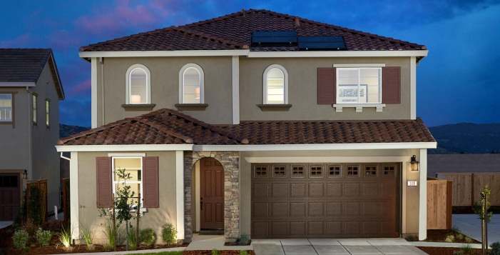 Image of a model home in Vacaville